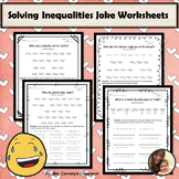 Solving Inequalities Joke Worksheets