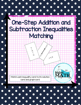 One-Step Addition and Subtraction Inequalities Matching