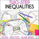 Solving Inequalities Math Wheel - Fun Note-Taking Format