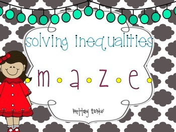 Solving Inequalities Maze