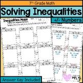 Solving Inequalities Maze Worksheet