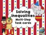 Solving Inequalities: Multi-Step Task Cards