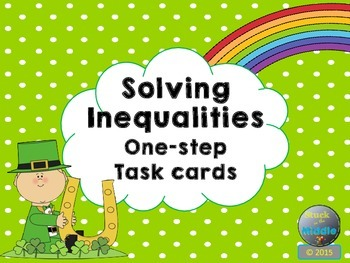 Solving Inequalities: One-Step Task Cards