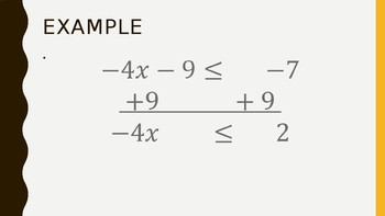 Solving Inequalities PowerPoint and notes