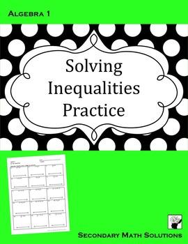 Solving Inequalities Practice