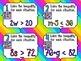 Solving Inequalities **QR CODE Task Cards**