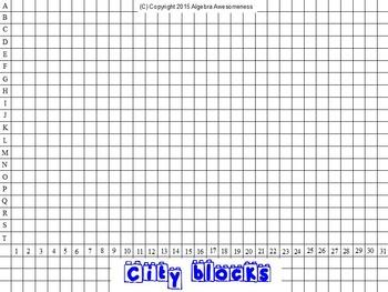 Solving Inequalities Review Activity - City Blocks
