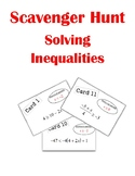 Solving Inequalities Scavenger Hunt Activity (With Multi-S