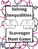 Solving Inequalities Scavenger Hunt Game