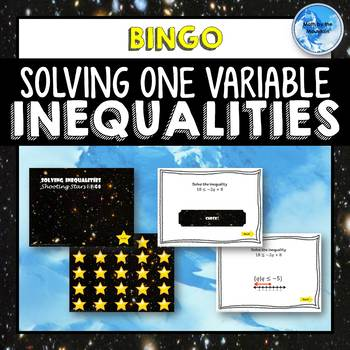 "Solving Inequalities ""Shooting Stars"" BINGO!"
