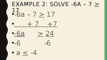 Solving Inequalities - Solving Multistep Inequalities
