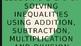Solving Inequalities - Solving One Step Inequalities