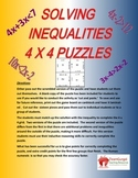 Solving Inequalities Sort (4 x 4 Puzzle)