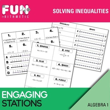 Solving Inequalities Stations