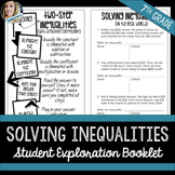 Solving Inequalities Student Booklet