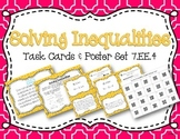 Solving Inequalities Task Cards and Poster Set *7.EE.4