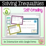 Solving Inequalities Task Cards for Google Forms™ Distance