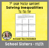 Solving Inequalities Tic-Tac-Toe