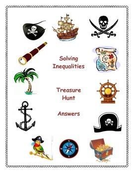 Solving Inequalities Treasure Hunt