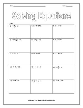 Solving Two Step Inequalities Worksheet by Algebra ...