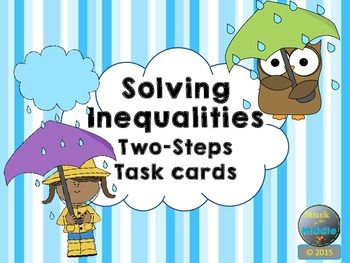 Solving Inequalities: Two-Step Task Cards