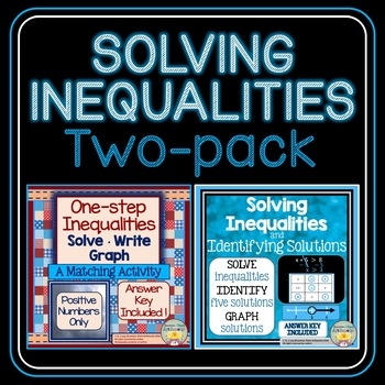 Solving Inequalities Two-pack