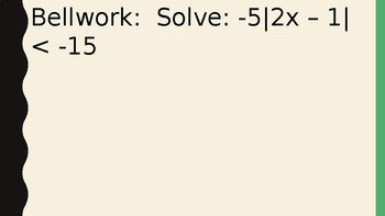 Solving Inequalities - Unions and Intersections of Sets