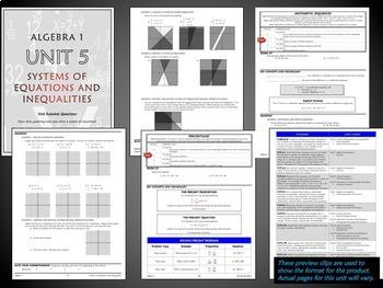 Solving Inequalities Unit for Algebra 1 Common Core