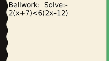 Solving Inequalities - Working with Sets