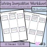 Solving Inequalities Worksheet