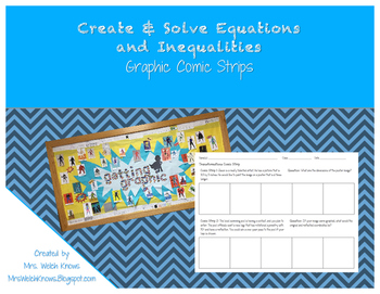 Solving Inequalities and Equations Comic Strip Activity