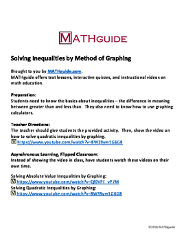 Solving Inequalities by Graphing