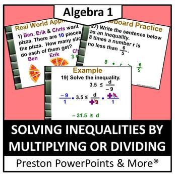 (Alg 1) Solving Inequalities Using Multiplication or Divis