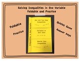 Solving Inequalities in One Variable Foldable and Practice