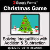 Solving Inequalities with Addition & Subtraction   Christm