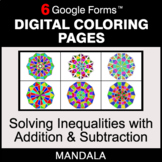 Solving Inequalities with Addition & Subtraction - Digital