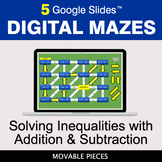 Solving Inequalities with Addition & Subtraction | Digital Mazes