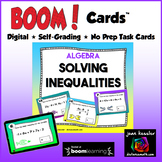 Solving Inequalities with BOOM Cards Digital 1:1 Algebra
