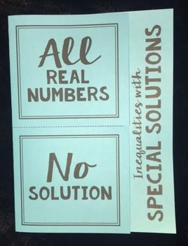 Solving Inequalities with Special Solutions (Foldable)