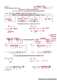 Solving Inequality Notes Answer Key