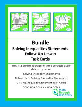 Algebra I:  Solving Inequality Statements Bundle