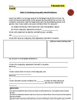 Solving Inequality Witsi Task #1