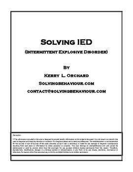 Solving Intermittent Explosive Disorder