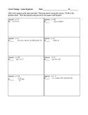 Solving Linear Equations Circuit Training