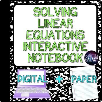 Solving Linear Equations Interactive Notebook