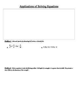 Solving Linear Equations, Linear Applications, and Absolute Value