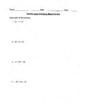 Solving Linear Equations Mixed Practice 30 Questions with