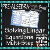 Solving Linear Equations - Multi-Step Equations - GOOGLE Slides