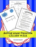 Linear Equations One Variable: Gallery Walk