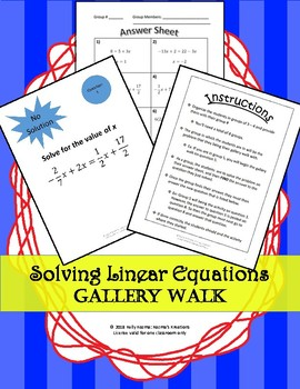 Linear Equations In One Variable Worksheets & Teaching Resources | TpT